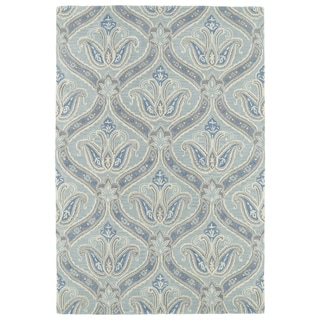 Hand-Tufted Seldon Spa Blue Paisley Rug (3'0 x 5'0)