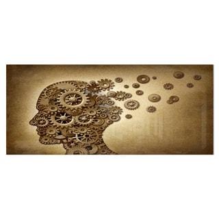 Designart 'Mechanical Brain' Contemporary Art Metal Wall Art