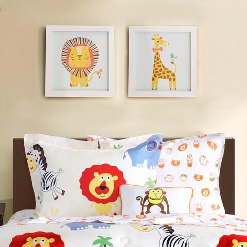 Mi Zone Kids Jungle Josh 2 Multi Framed Gel Coated Paper (Set of 2) - Yellow