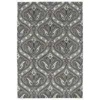 Hand-Tufted Seldon Dark Taupe Paisley Rug (3' x 5')