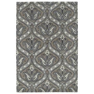 "Hand-Tufted Seldon Dark Taupe Paisley Rug (5' x 7'9) - 5' x 7'9"""