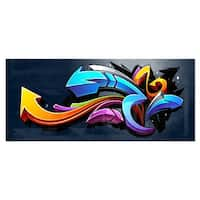 Designart 'Direction Street Art' Graffiti Metal Wall Art
