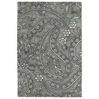 Hand-Tufted Seldon Grey Paisley Rug (9'0 x 12'0) - 9' x 12'