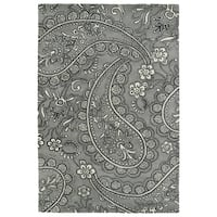 Hand-Tufted Seldon Grey Paisley Rug (9' x 12')