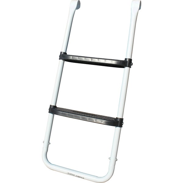 Super Jumper Black and White 2-step Trampoline Ladder