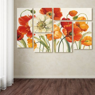 Lisa Audit 'Poppies Melody I' Multi Panel Art Set