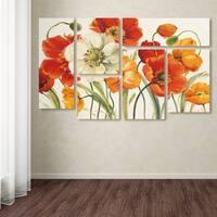 Lisa Audit 'Poppies Melody I' Multi Panel Art Set