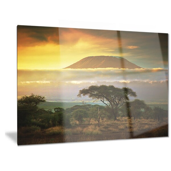 Designart \'Mount Kilimanjaro\' Photography Landscape Metal Wall Art ...