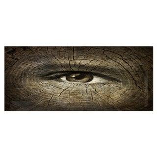 Designart 'Aging Eyes' Abstract Metal Wall Art