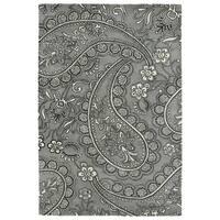Hand-Tufted Seldon Grey Paisley Rug (8'0 x 10'0) - 8' x 10'