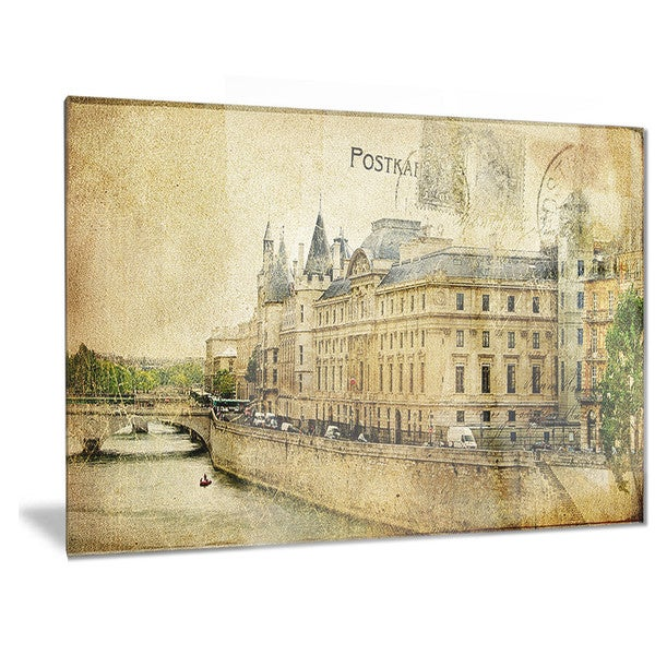 Designart \'Old Parisian Cards\' Digital Metal Wall Art - Free ...