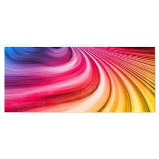 Designart 'Abstract Colorful Waves' Contemporary Metal Wall Art