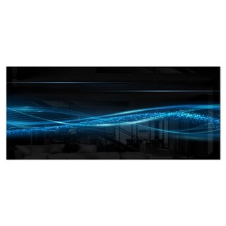 Designart 'Blue Abstract Vector Pattern' Contemporary Metal Wall Art