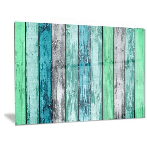 Shop Designart \'Painted Wooden Planks\' Digital Metal Wall Art - On ...