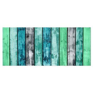 Designart 'Painted Wooden Planks' Digital Metal Wall Art