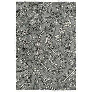 Hand-Tufted Seldon Grey Paisley Rug (3' x 5')