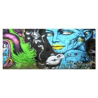 Designart 'Mural Wall Art' Street Metal Wall Art