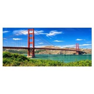 Designart 'San Francisco Golden Gate' Landscape Photo Metal Wall Art