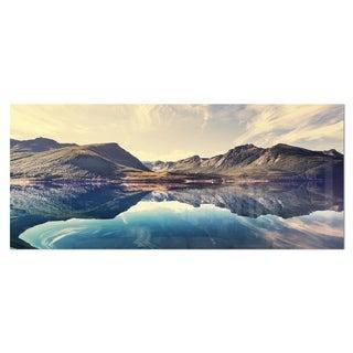 Designart 'Norway Summer Mountains' Landscape Photo Metal Wall Art