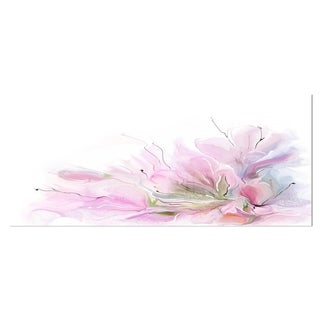Designart 'Lovely Pink Flowers' Floral Contemporary Metal Wall Art