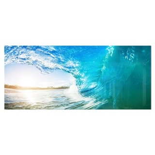 Designart 'Blue Waves Arch' Seascape Photo Metal Wall Art