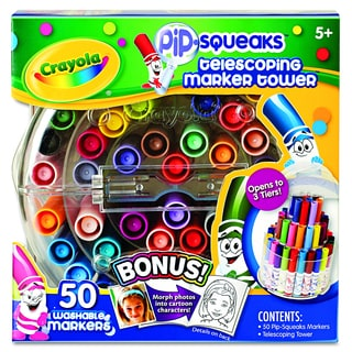 Crayola Pip-Squeaks Telescoping Assorted Colors Marker Tower (50 per Set)