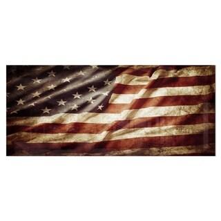 Designart 'American Flag' Contemporary Metal Wall Art