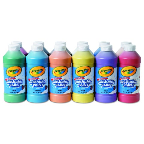 Crayola Assorted Washable Paint (12 per Set)