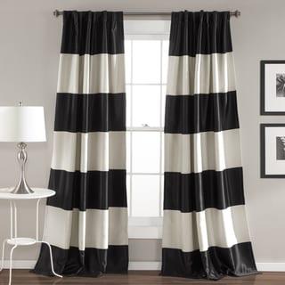 "Lush Decor Montego Striped Curtain Panel Pair - 52""W x 84""L"