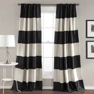 Lush Decor Montego Striped Curtain Panel Pair - 52 x 84