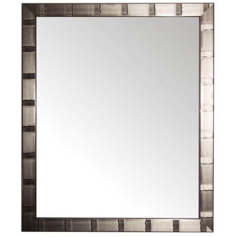 Creekside Collection Silver Aluminum Rectangular Wall Mirror