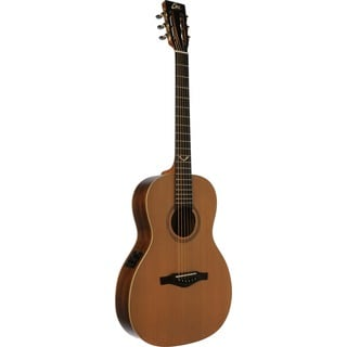 Eko Guitars EVO Series Mahogany Wood Parlor Acoustic-Electric Guitar (40 x 15 x 4)