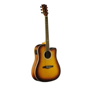 Eko Guitars TRI Series 06217104 Dreadnought Cutaway Honey Burst Acoustic-Electric Guitar