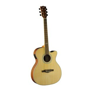 Eko Guitars 06217086 TRI Series Auditorium Natural Finish Cutaway Acoustic-electric Guitar