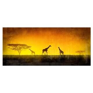Shop Designart African Sunset Aura Landscape Metal Wall