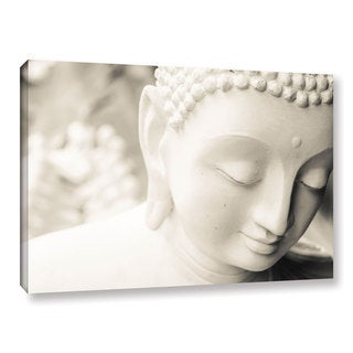 Andrew Lever's 'White Buddha' Gallery Wrapped Canvas