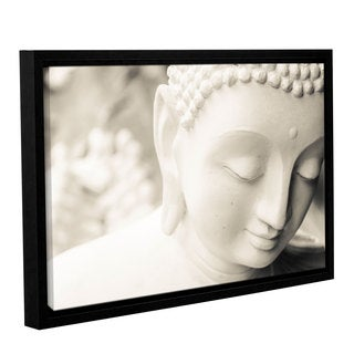 Andrew Lever's 'White Buddha' Gallery Wrapped Floater-framed Canvas - multi