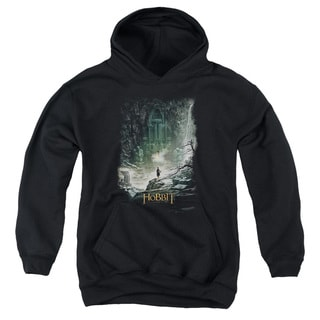 Hobbit/At Smaug's Door Youth Pull-Over Hoodie in Black