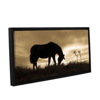 Andrew Lever's 'Horse Enjoys Evening' Gallery Wrapped Floater-framed Canvas