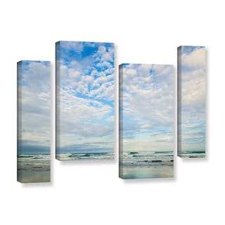 Andrew Lever's 'Bright Clouds' 4-piece Gallery Wrapped Canvas Staggered Set