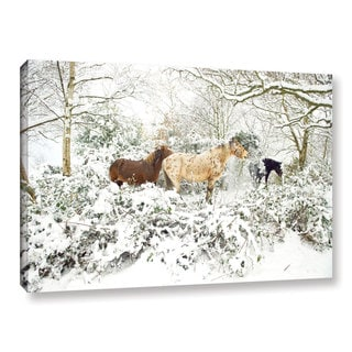 Andrew Lever's 'Horses in Winter' Gallery Wrapped Canvas