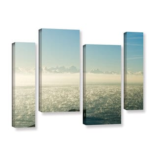Andrew Lever's 'Fog on the Ocean' 4-piece Gallery Wrapped Canvas Staggered Set