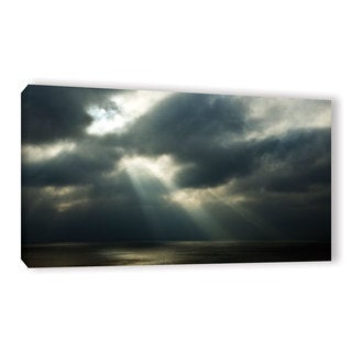 Andrew Lever's 'Peeking through the Dark' Gallery Wrapped Canvas