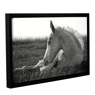 Andrew Lever's 'Relaxing Horse' Gallery Wrapped Floater-framed Canvas