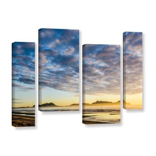 Andrew Lever's 'Sunrise At Lang's Beach' 4-piece Gallery Wrapped Canvas Staggered Set
