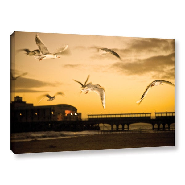 Andrew Lever's 'Flying Seagulls' Gallery Wrapped Canvas