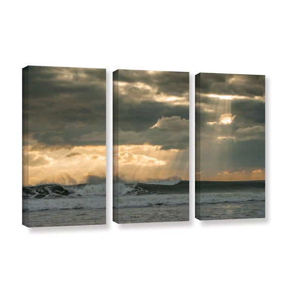 Andrew Lever's 'After Storm Lighting' 3-piece Gallery Wrapped Canvas Set