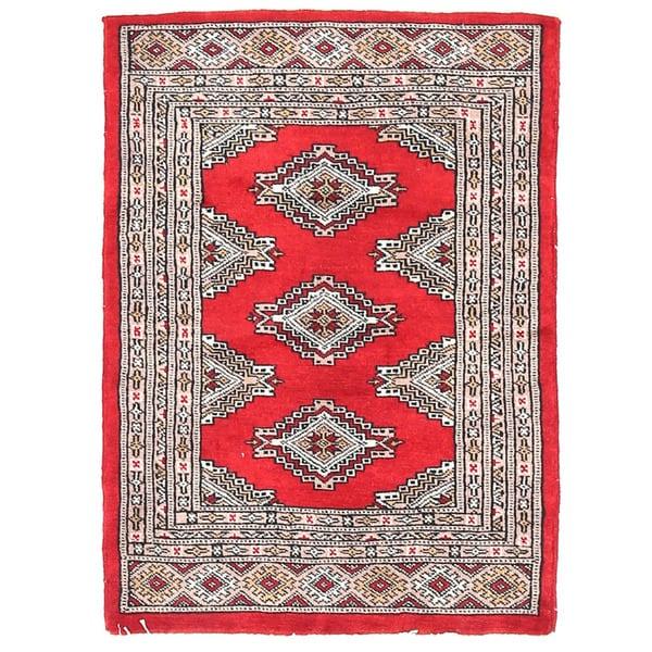Herat Oriental Pakistani Hand-knotted Bokhara Wool Rug (2'1 x 2'11)