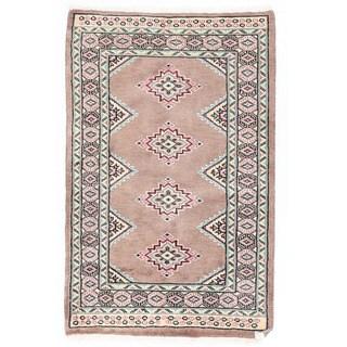 Herat Oriental Pakistani Hand-knotted Bokhara Wool Rug (1'11 x 3'1)