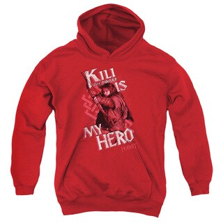 The Hobbit/Kili Is My Hero Youth Pull-Over Hoodie in Red